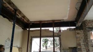 3 putrelle saldate IPE restauro casa treviso