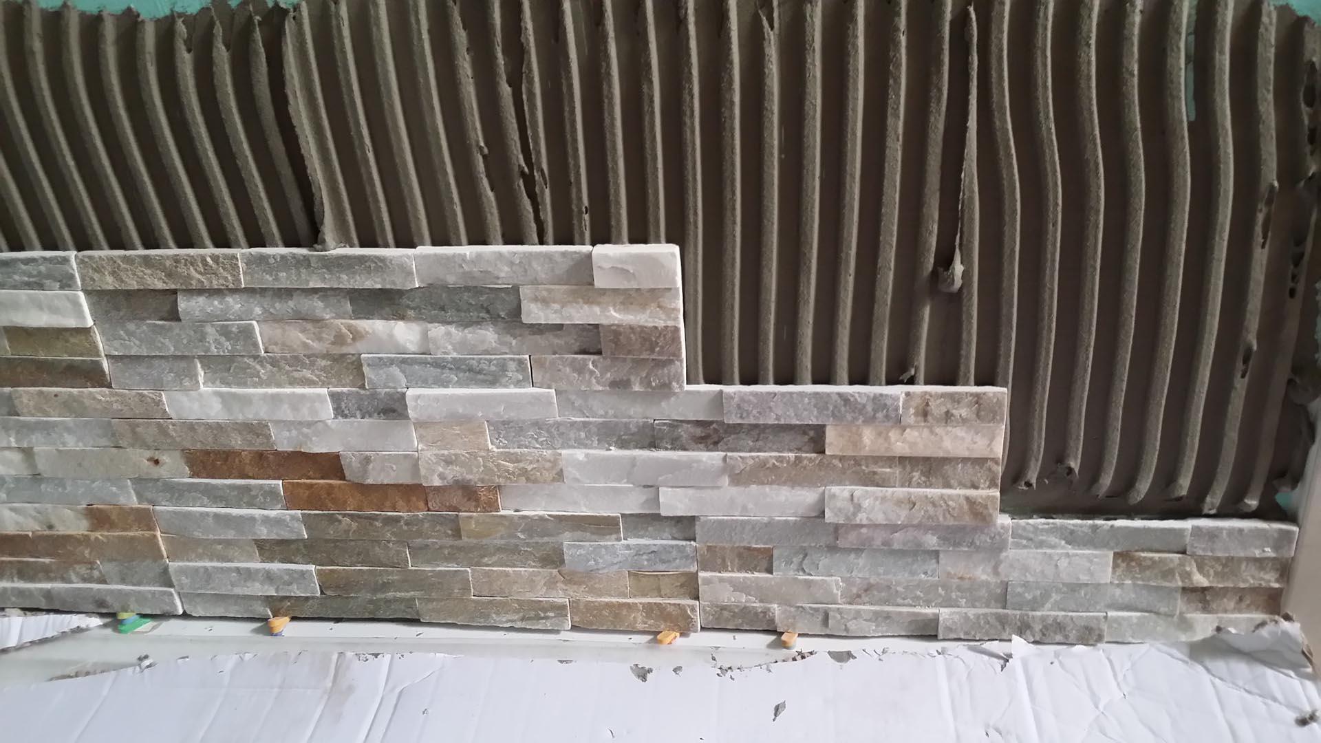 Sfondo di piastrelle da rivestimento in pietra u foto stock