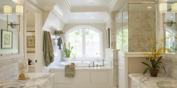 stile classico per un bagno altamente contemporaneo