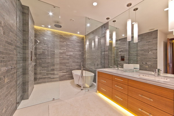 Modern Bathroom Led Crystal Make Up Light Toilet Wall Lamp: RIstrutturazione Bagni Treviso Mestre