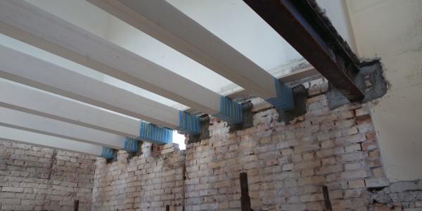 travi e putrelle solaio ristrutturazione casa treviso